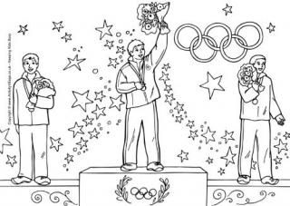 Olympic Medal Winners Colouring Page