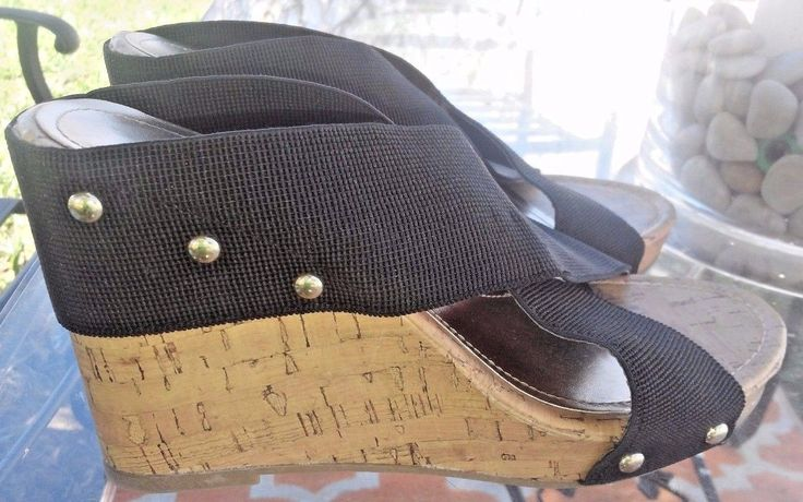 Madden Girl  Nautic Womens Black Wedge Heels Strappy Sandals Size 8   Clothing, Shoes & Accessories, Women's Shoes, Heels   eBay!