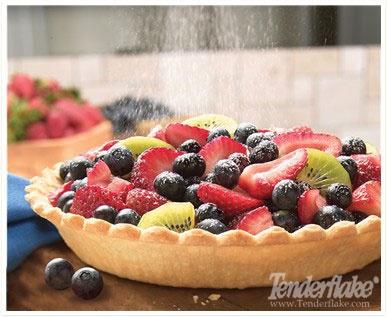 Custard Fruit Pie. For more pie-licious recipes visit www.tenderflake.ca