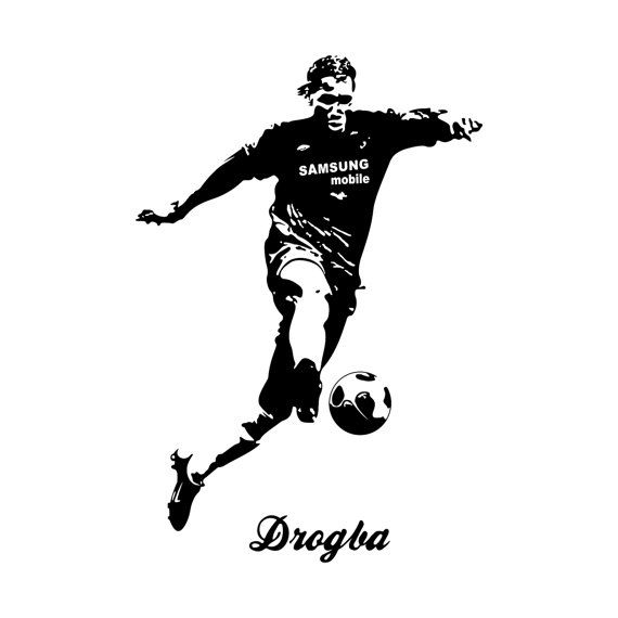 Didier Drogba Football Player graphics design SVG DXF EPS Png Cdr Ai Pdf Vector Art Clipart instant Digital Cut Print Files Shirt Vinyl