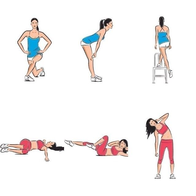 #ShareIG Интенсивная тренировка для ног и пресса✔️ Порядок тренировок по 20 повторов каждого из описанных упражнений. Регулярность занятий: три раза в неделю. Эффект вы увидите спустя всего два месяца.  Ноги Перекрестный выпад ягодичные мышцы Встаньте: ноги вместе, спина прямая, руки на поясе. Затем плавно заведите правую ногу по диагонали назад и присядьте - так, чтобы колени были согнуты под прямым углом, но задняя нога не касалась пола. Вернитесь в исходное положение, повторите упражнение…