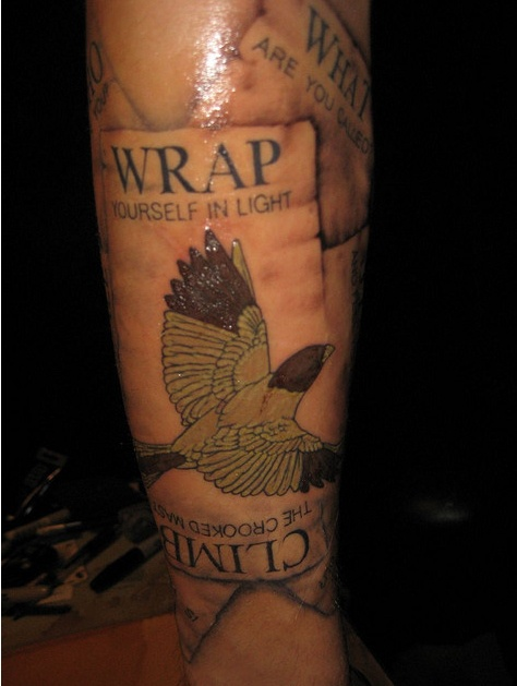 Wrap yourself in light. Climb the crooked mast.Pynchon Inspiration, Sleeve Tattoo, Awesome Literary, Thomas Pynchon, Tattoo Inspiration, Literary Ink, Literary Book Tattoo, Literary Tattoo I, Tattoo Textu
