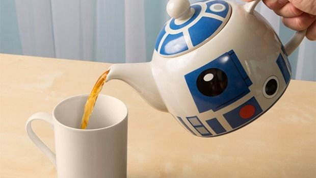 R2-D2 Ceramic Teapot. From  '10 Ways To Star Wars Up Your Kitchen' on goodfood.com.au.