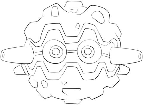 Click to see printable version of Forretress Coloring page