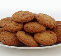 Outeniqua Biscuits - an Old South African recipe (originates from the area) with coconut, cherries and currants.