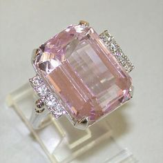 kunzite ring- Just Beautiful