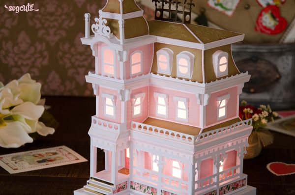 Magnolia Manor by Mary Rudakas at SVGCuts - DIY paper house for your electronic cutting machine