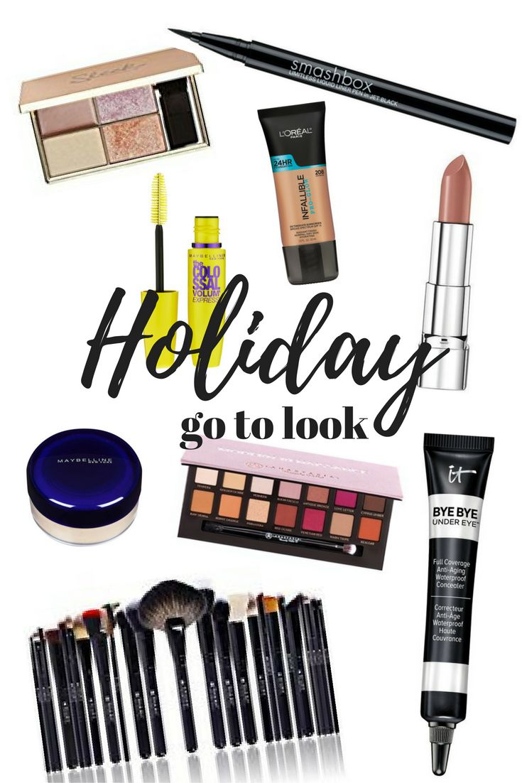 Holiday Makeup Essentials. Video tutorial and step by step with affordable makeup.