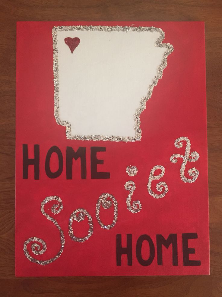 """Home Sooiet Home"" Arkansas Razorbacks Canvas"
