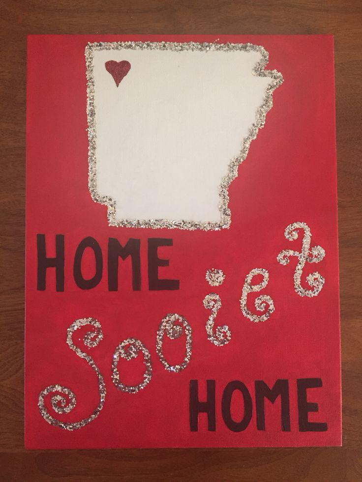 """Home Sooiet Home"" Arkansas Razorbacks Canvas"