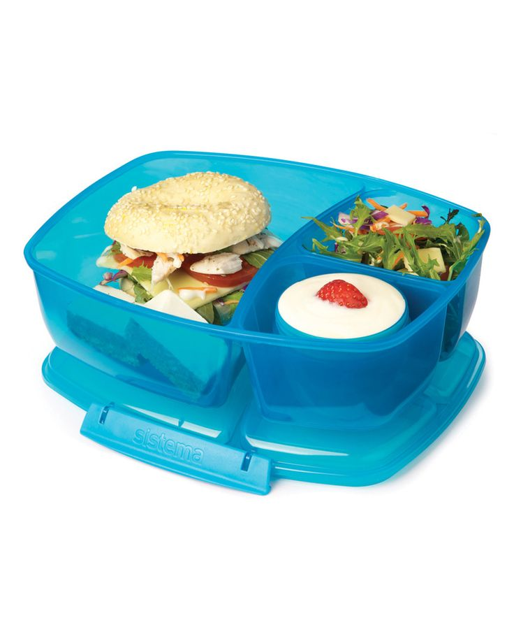 This Blue TripleSplit Lunch Box by Sistema is perfect!