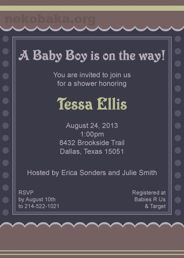 Baby Shower Invitation Printable PDF by lina01 on Etsy, $10.00