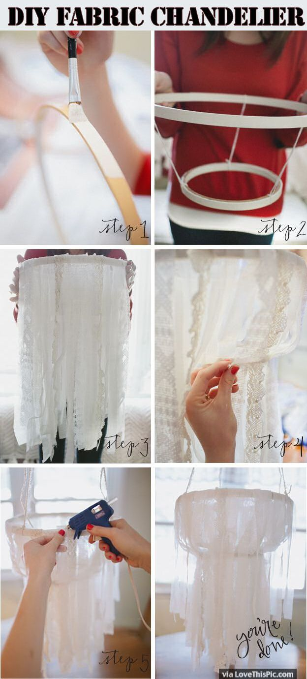 DIY Fabric Chandeleir Pictures, Photos, and Images for Facebook, Tumblr, Pinterest, and Twitter