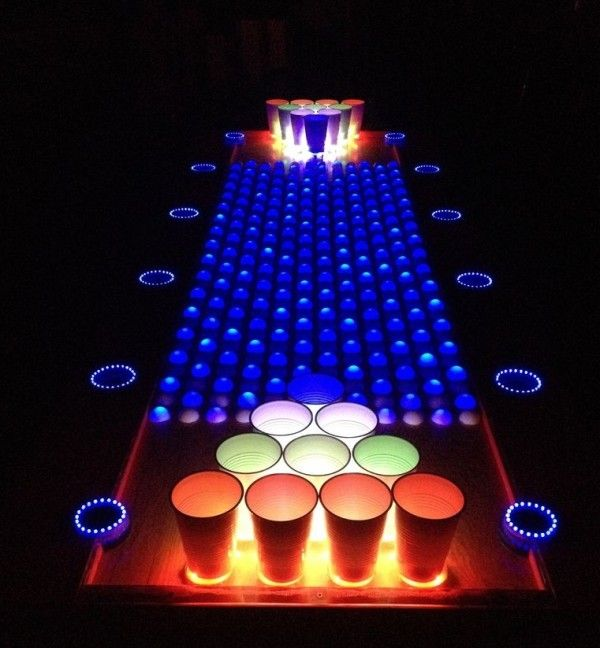 The Interactive LED Beer Pong Table is on Instructables