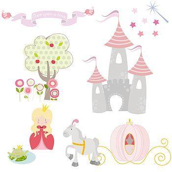 Princess Fabric Wall Stickers