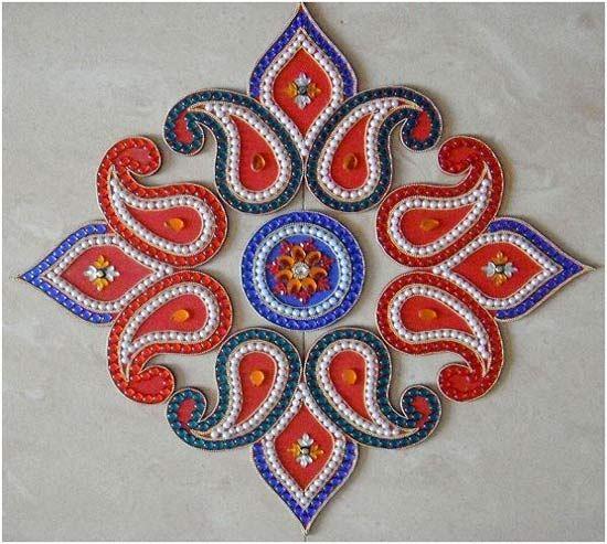 Best Kundan Rangoli Designs