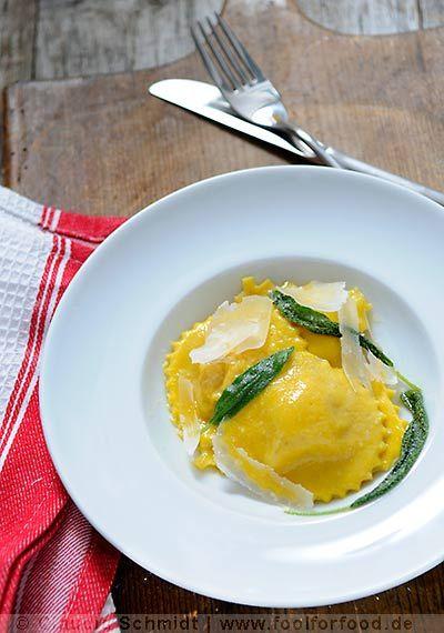 Rezept mit Bild für Kürbis-Ravioli - Ravioli di Zucca