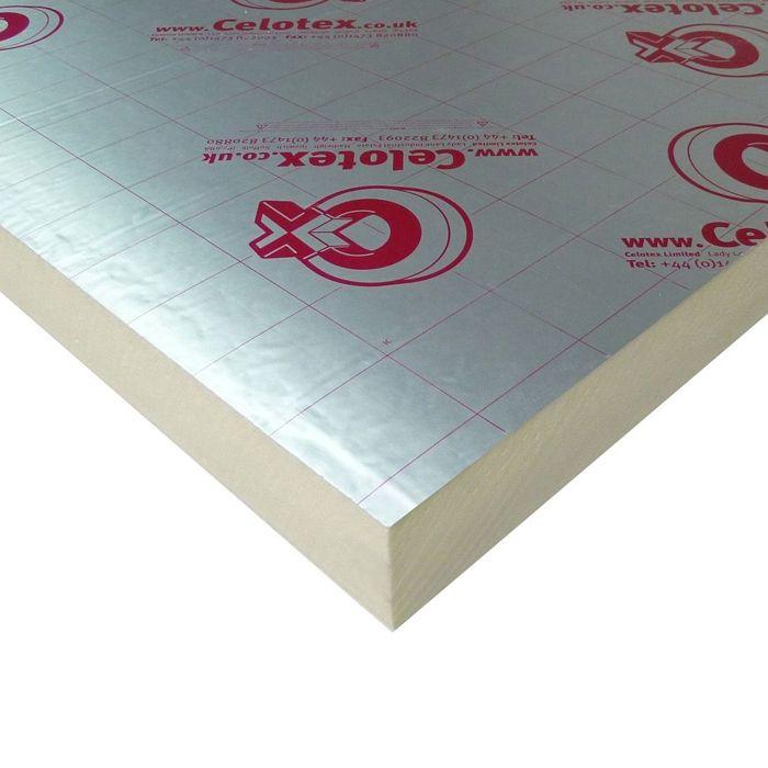 Celotex TB4012 Zero ODP Rigid Insulation Board - 2.4m x 1.2m x 12mm