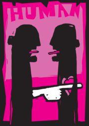 "Wystawa Aarhus International Poster Show 2012 pod hasłem ""To Be Human"" w Dansk Plakatmuseum;"