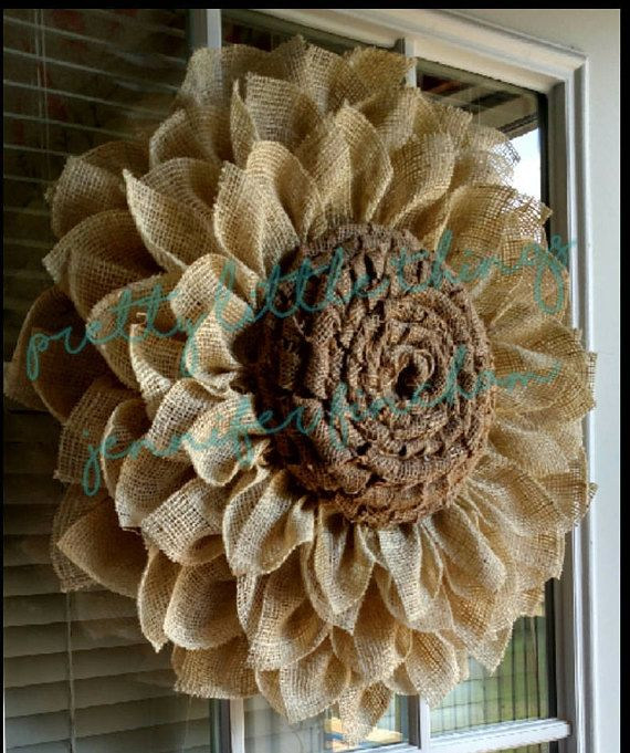 **** PLEASE READ THE FULL DESCRIPTION BEFORE ORDERING*** **All wreaths are made to order**please look at processing time** This listing is for an oyster white burlap wreath. Oyster petals with light burlap center. Fabric is treated with stiffener but it may fray slightly in