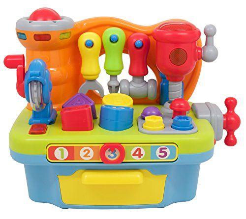 Techege Toys Multi Functional Workbench Kids Workshop Tool