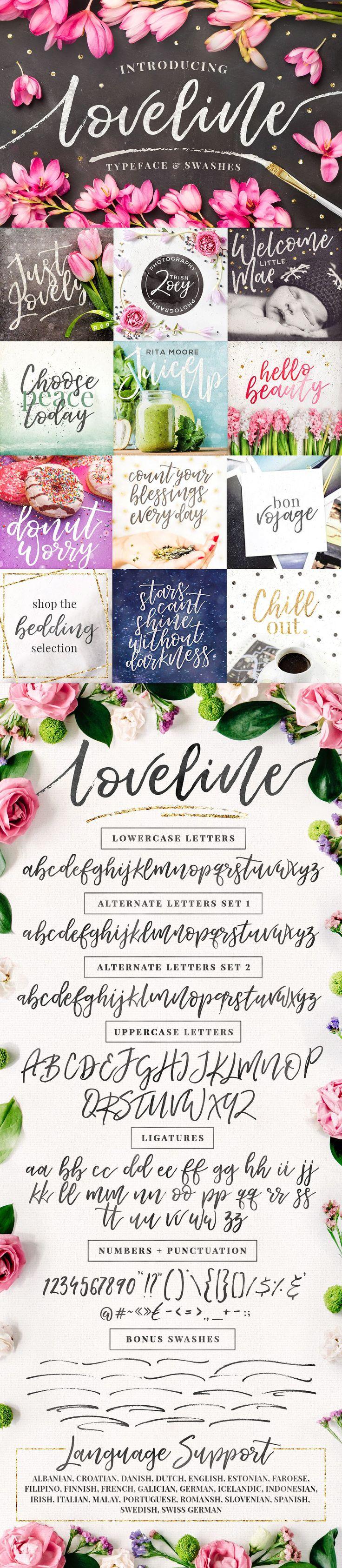 Loveline Brush Script Swashes 302 best