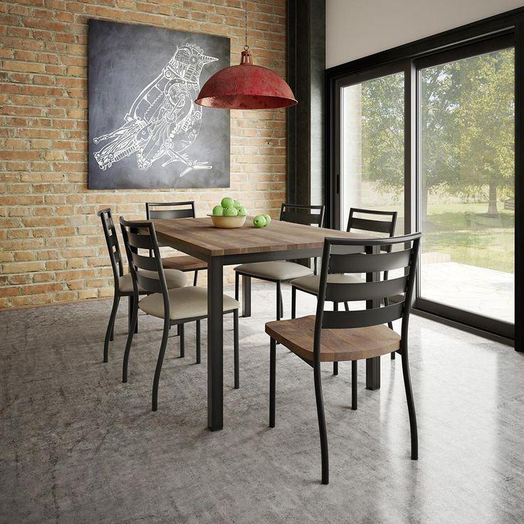 Ensemble de salle manger style rustique contemporain - Relooking salle a manger rustique ...