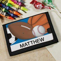 Personalized Kids Gift - Sport Wallet Abernook. $26.00 ...