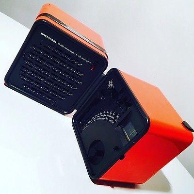 Radio Vintage Cubo BRIONVEGA  TS 505 ARANCIONE Design Marco Zanuso Anni '70  | eBay