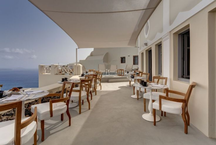 Located in a traditional Captain's house dating back to the beginning of the previous century, #Mystique's Captain's Lounge is a great spot to start your day in #Santorini