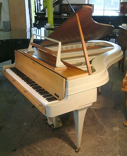 A 1950's, Rippen grand piano with an aluminium case at Besbrode Pianos. Elegantly slim profile. £12,000. http://www.besbrodepianos.co.uk/piano-sale/rippen-grand-piano-1.htm