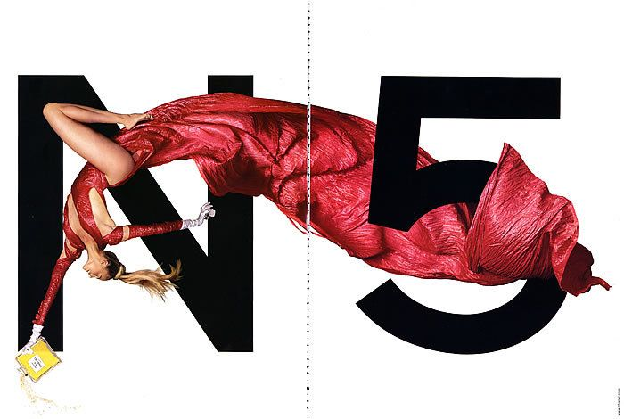 Paper Pursuits Fashion & Design Print Collectibles: Great Advertising Series: Chanel No 5 Perfume with Estelle Warren