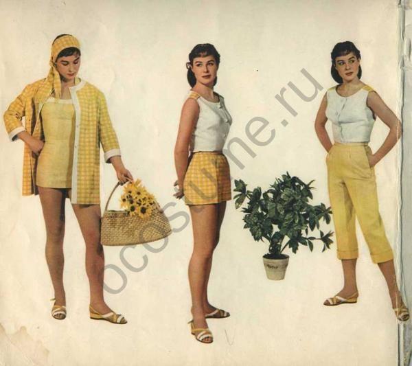 1957. Чехословакия. Купальный костюм и летняя одежда