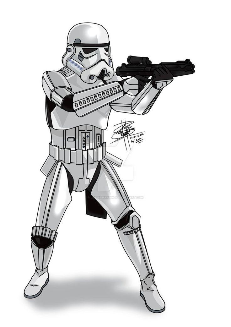 Stormtrooper fan-art, by: LessSanArt207.