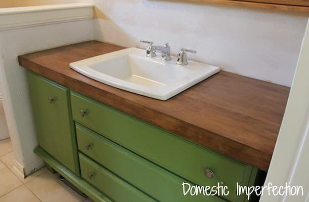 Maple Stained 7 Chic DIY Bathroom Vanity Ideas For Her Shabby