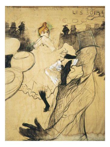 "La Goulue and Valentin Le Desosse at the ""Moulin Rouge"" Giclee Print by Henri de Toulouse-Lautrec at AllPosters.com"