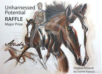 Unharnessed Potential Raffle - WIN ONE of SIX original artworks of Ideal Guy (aka Andy the Standy) in our Unharnessed Potential Raffle!