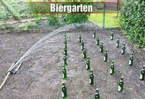 Nicht vergessen: Auch der #Biergarten hinter dem #Haus muss bei extremer Hitze regelmäßig #gegossen werden ;-)