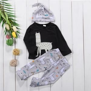 Your little one will look adorable in our Cute Alpaca Baby Outfit.