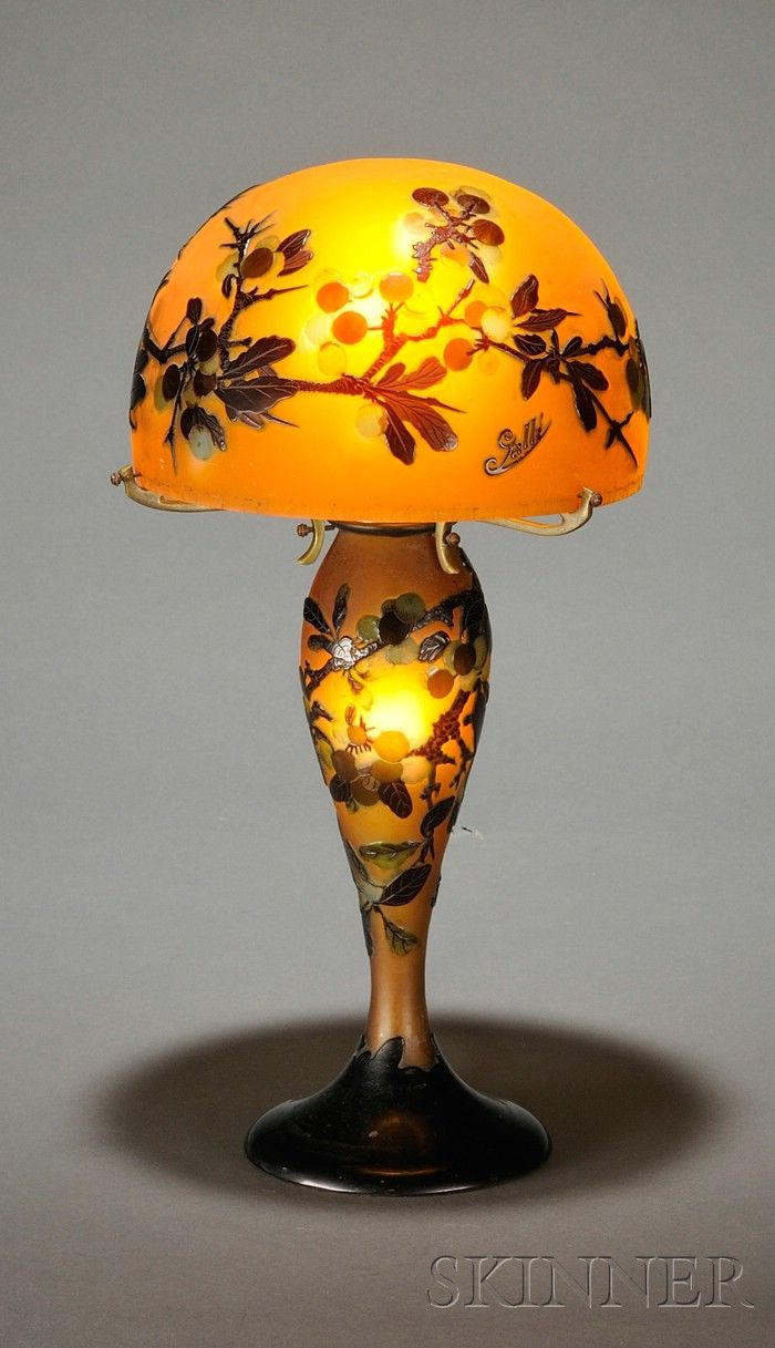 Galle Cameo Glass Table Lamp 🔹🍁🔹㊙️More Like This At FOSTERGINGER @ Pinterest🉐🔹🍁