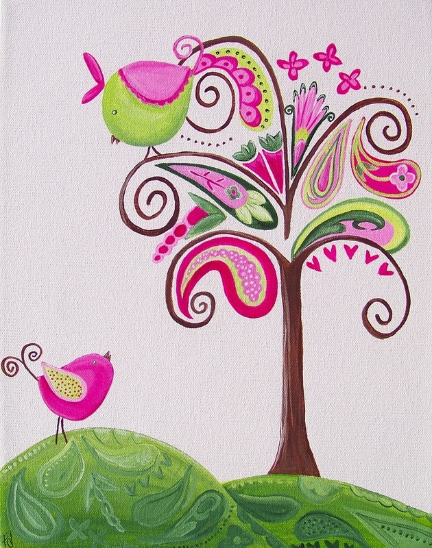 Paisley Nursery Art, Paisley Art for A Girls Room or Nursery