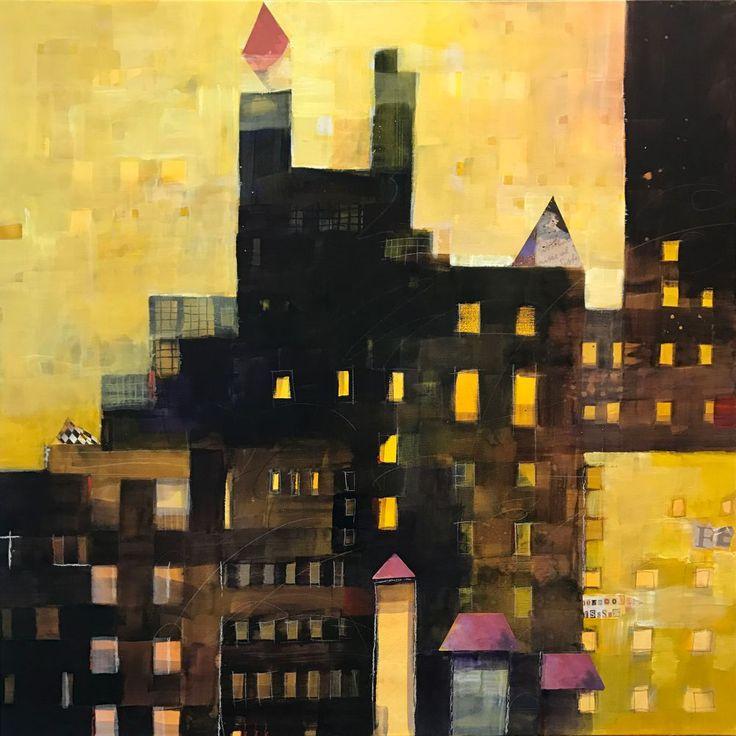 Urban Landscape - Industries - http://www.contemporary-artists.co.uk/paintings/urban-landscape-industries/