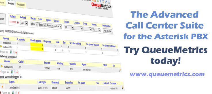 #QueueMetrics is the #CallCenter Software Suite for the #Asterisk PBX that measure your targets, conversion rates and agent activities to create accurate reports and statistics. www.queuemetrics.com