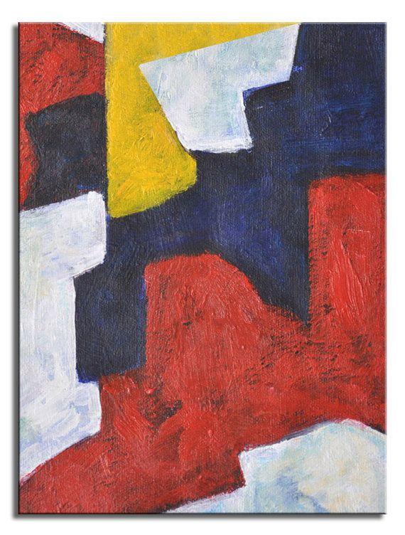 Pittura geometrica arte minimalista moderno. Campo di FabuArtDecor