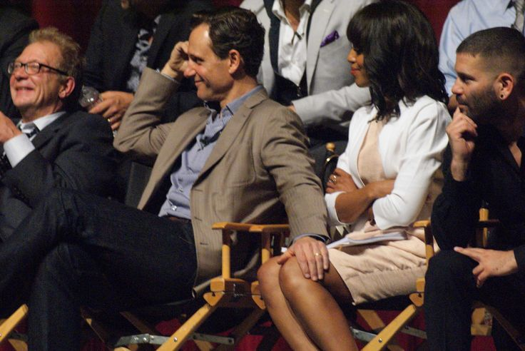 Without thinking, I rest my hand on her thigh. Tony Goldwyn and Kerry Washington from 'Scandal'.