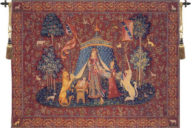 """A Mon Seul Desir I, European Wall Tapestry, 58""""x78"""" traditional-tapestries"""