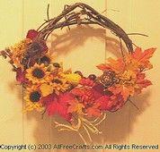 Make a vine wreath