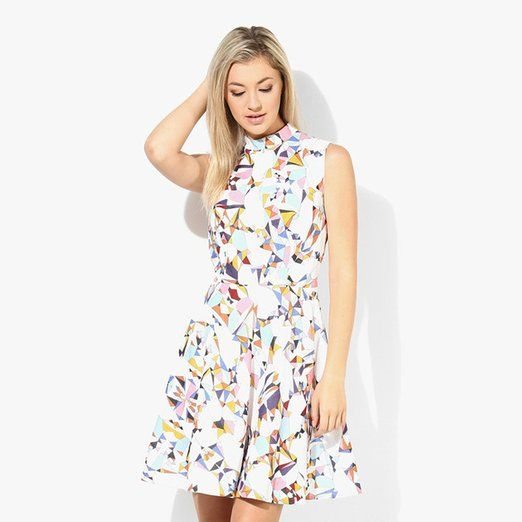 Khazanakart Creation Floral Printed western wear White And Yellow Skirt Dress Material