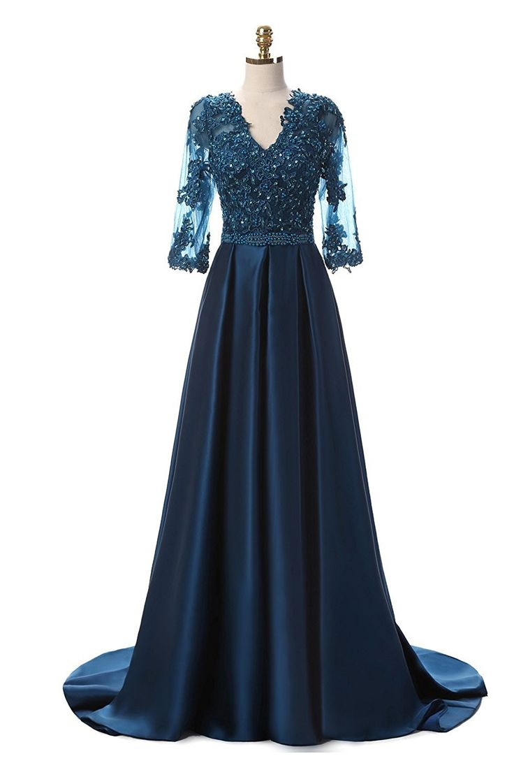 Kittybridal Women's Beading Lace Prom Evening Dresses With Sleeves 2016 ** Awesome product. Click the image : formal dresses