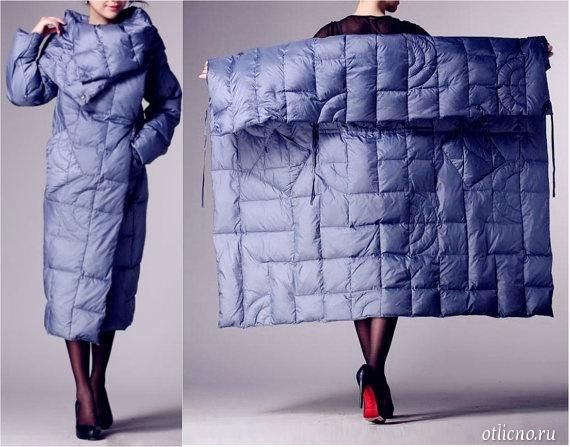 Look. At. This. Coat. | amazing idea for warmth in snow and winter